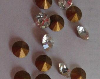 Vintage Swarovski Crystal Rhinestones Article1012 ss11 pp23 2.90-3.0mm QTY - 12