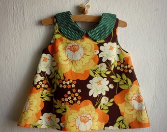 Peter Pan Collar Baby Dress - Spring and Summer Dress - Dress for baby girls - size 12M