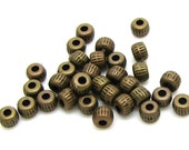 Spacer Beads : 100 pieces Antique Bronze Spacer Beads | Brass Ox Bead Spacers 3.5x2.5mm ... Lead & Cadmium Free 0284.P