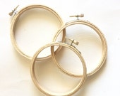 Embroidery Hoops, 4 inch Hoops, Set of 3