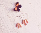 peach quartz hoop earrings.
