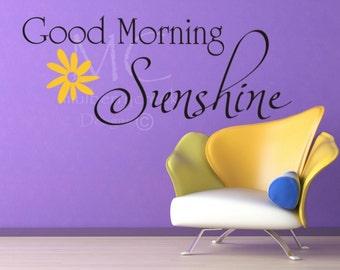 Vinyl Decal Good Morning Sunshine-Vinyl Lettering-Sunshine Vinyl Decals