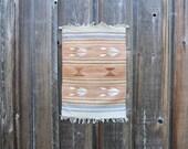 Vintage Navajo Wool Weaving / Woven Wool Wall Hanging / Southwest Style Wool Rug