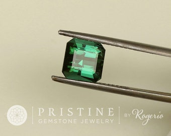 natural Blue Green Tourmaline 2.81 cts Square October Birthstone