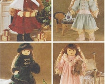 90s Betsy McCall Winter Holiday Wardrobe for 18 Inch Collectible Dolls McCalls Sewing Pattern 7934 UnCut
