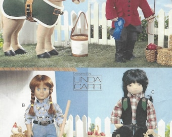 Linda Carr 18 Inch Doll Western Wear Equestrian Doll Clothes Vogue Sewing Pattern 7729 Horse Accessories for Horse Doll