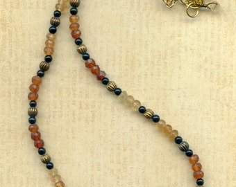 Hessonite Garnet Necklace