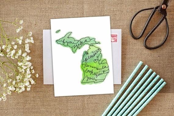 Pleasant peninsula michigan motto michigan greeting card like this item m4hsunfo Images
