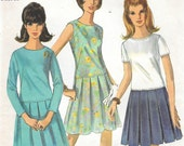 Bust 32-FACTORY FOLDED 1966 Misses' Dress Simplicity 6913 Size 12