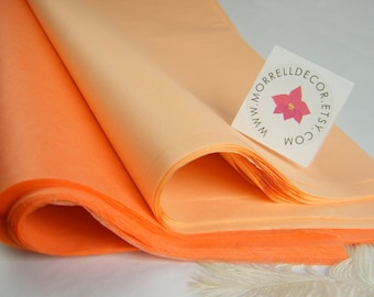 "Coral Dark Peach and Light Peach Combo Pack Tissue Paper -  Supplies - 20"" X 30"" Gift Wrapping - Favor Box Packaging - DIY Pom Pom Supplies"
