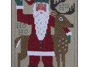 10% OFF Pre-order NEW 2016 Schooler Santa Christmas cross stitch pattern by Prairie Schooler at cottageneedle.com December Winter embroidery