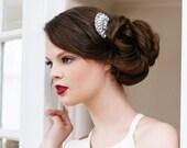 Wedding Hair Comb, Rhinestone Bridal Hair Comb, Bridal Hair Accessory, Art Deco Hair Comb, Crystal Flower Comb, Art Deco Comb DEW DROP