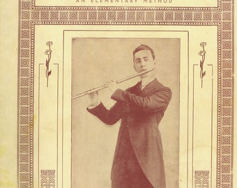 Foundation of Flute Playing Antique Vintage Book 1918 Wagner NY Woodwind Instrument Education Sheet Music