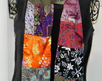 HAND MADE SCARF-Preloved fabric Reversible