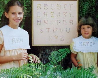 Counted Cross Stitch Patterns LITTLE WILDFLOWERS ALPHABETS By Anne Rochell For Back Street