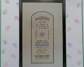 Cross Stitch Pattern COTTON CANDY Band SAMPLER By Something In Common