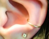 Fake Conch Ring - faux conch ring - side ear cuff - ear cuff - hoop ear cuff - ear cuff hoop