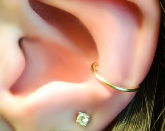 Fake Conch Ring - Conch Cuff - Faux Conch Ring - Conch Jewelry - Ear Cuff - Conch Hoop - Conch Ring - Conch Piercing Hoop - Ear Cuff Gold