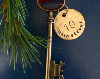 First home ornament, Skeleton key, Christmas ornament, Key ornament,  new home ornament, housewarming, Christmas ornament, skeleton key