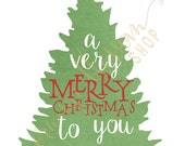 Merry Christmas 8x10 Digital Print INSTANT DOWNLOAD