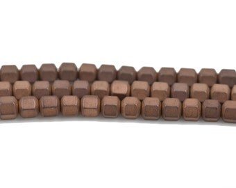 3mm Matte Dark Bronze HEMATITE HEXAGON Beads, Titanium coated gemstone beads, full strand, 150 beads, ghe0128
