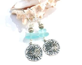Sand Dollar Earrings, Sand Dollar Jewelry, Beach Earrings, Beach / Coastal Jewelry, Beach Lover Jewelry, Sand Dollar Charm Jewelry