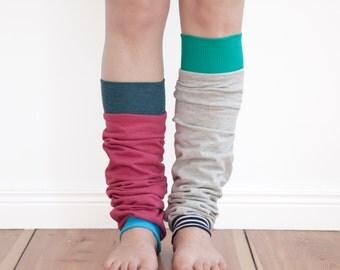 Design your own leg warmers, yoga socks, boot cuffs - custom made