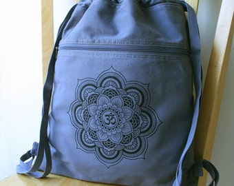 Mandala Canvas Backpack Laptop Bag School Bag Gym Bag