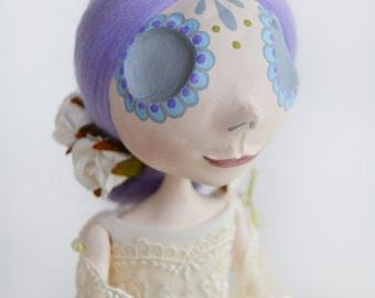 Day of the Dead - Dia de los muertos - Vintage Art Doll - Pastel Colors