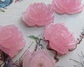 Pink Rose Quartz  Roses