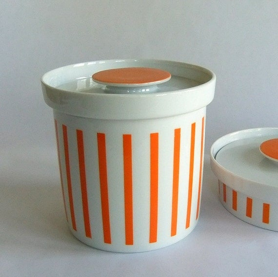 #VINTAGE Vintage LaGardo Tackett Schmid Orange White