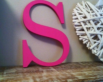 """Painted Wooden Letter - 'S' - Any Colour,  Roman Style - 20"""", Wall letter, various colours, other sizes"""