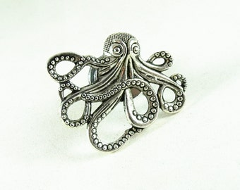 Silver Octopus Drawer or Door Pull, Home Improvement, Home Decor