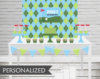 Printable Golf Backdrop - 3x4 ft. Personalized Printable Party Poster for Golf Themed Parties and Birthdays .. gp01