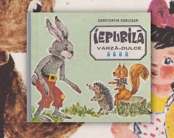 """C. Cublestan """"Sweet Cabbage Rabbit / Iepurila Varza-Dulce"""" (In Romanian). Hardcover, 11 pages -- 1989"""