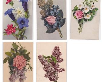 Set of 5 Antique Postcards -- 1910?
