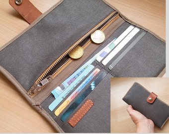 Bifold minimalist wallet / travel wallet/ Phone wallet