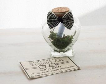Will You Be My Groomsman Groomsman Invitation Best Man Wedding invite Man of Honor Wedding Card Custom Message in a bottle Heart Bottle
