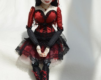 Burlesque Dancer - OOAK Collectors Art Doll