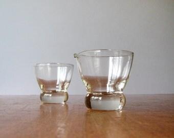 Vintage Eva Zeisel Prestige Federal Glass Sugar / Creamer Set