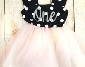 PREORDER SALE Polka Dot Birthday Tutu Dress / Birthday Outfit Girl, Toddler Dress, Baby Girl Dress, Birthday Dress, Birthday Girl