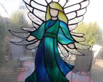 Angel In Flight Stained Glass
