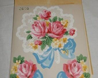 Vtg TRIMZ KUT-Outs Decals Roses Bouquet NOS
