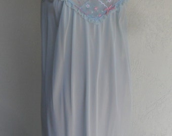 Vintage Nightgown by Movie Star Silky Nylon Romantic  Size Medium