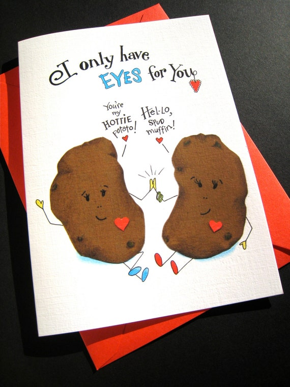 Funny Potato Pun Card Food Pun I Love You Card Funny