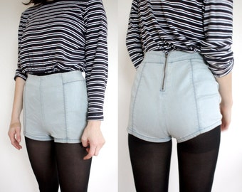 Light Blue High Waisted Shorts