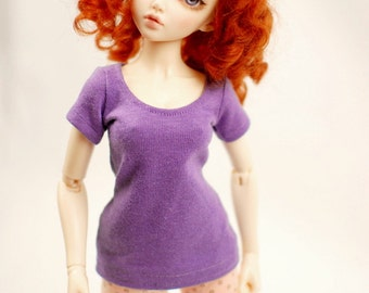 Minifee Purple T Shirt For Slim MSD BJD - Last One