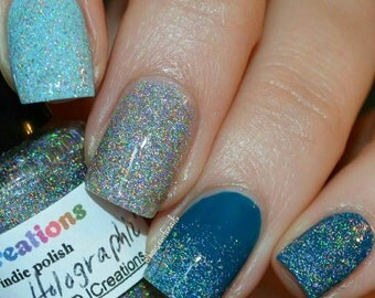 New! Something Holographic ~ micro glitter flakie holo Indie Nail Polish by MDJ Creations
