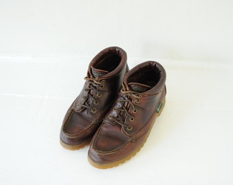 Vintage Eastland Brown Leather Ankle Hiker Boots, Mens 8 / ITEM158