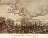 Vintage Print Peter Pan Illustration by Arthur Rackham